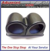 Twin 52mm Gauge Pod With A Flat Base For Dash Mount